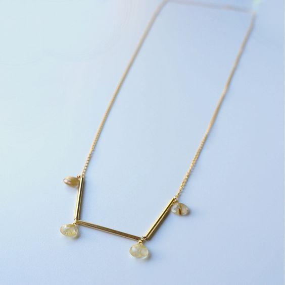 Necklace - Quartz & Gold Filled