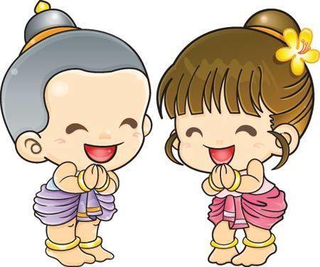 모든 사랑스러운 친구 덕분에 모두가 여기에있습니다 Cartoon Girl Drawing Boy And Girl Cartoon Thailand Art