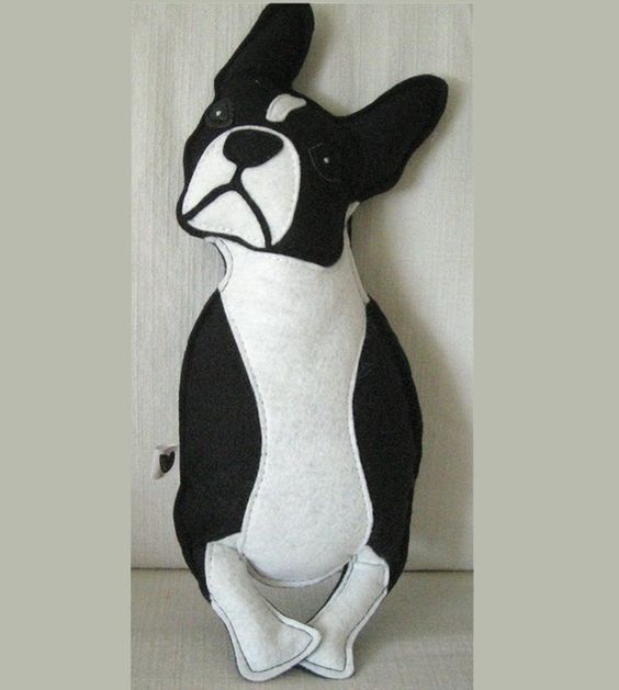 Boston Terrier Felt dog