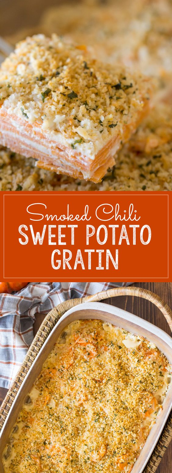 Sweet Potato Gratin - A spicy twist on the traditional sweet potato ...