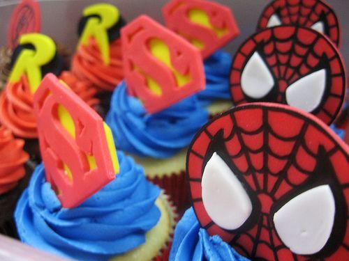 superhero cupcakes   Superhero Cupcakes