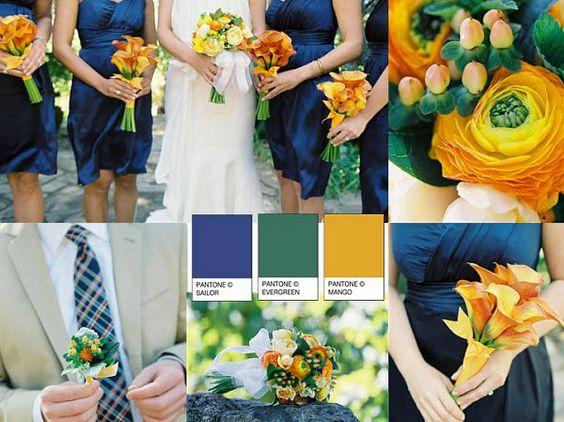 decoracion con papel para bodas en color blanco y azul - Buscar con Google