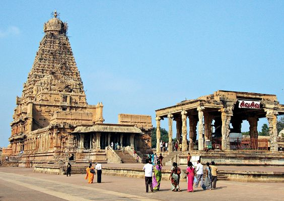 """This photo was taken in Tanjore, India on the OAT adventure """"Soul of India"""", 2011.  The majestic Brihadishwara temple, with native people paying homage to the shrine. The Photo was taken by 8x traveler Nancy Maclean. For more information about this trip go here http://www.oattravel.com/Trips/2013/Soul-of-India-The-Colorful-South-2013.aspx #tanjore #india"""
