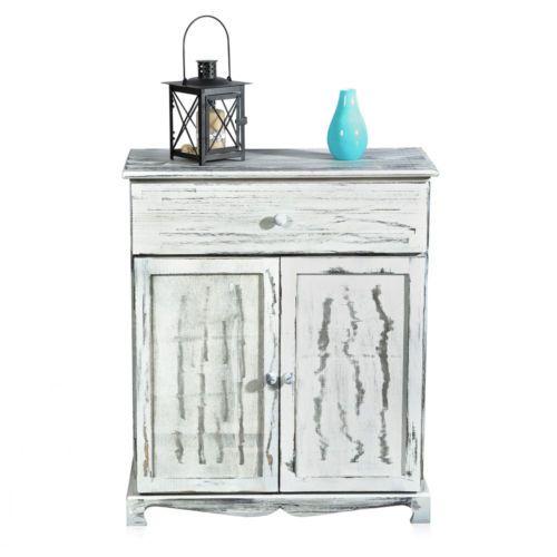 Pasillo-comoda-en-el-Shabby-Chic-cajon-blanco-armario-estante-Credenza-madera-Vintage