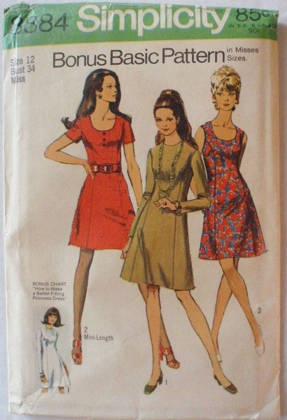 Womens Vintage Sewing Pattern  Princess Seam Dress by Shelleyville, $7.00
