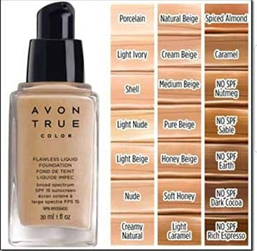 Avon True Color Flawless Liquid Foundation Honey Beige Avon True Liquid Foundation Avon