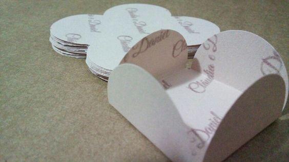 Forminha doces personalizadas em papel scrap 180grs metalizado
