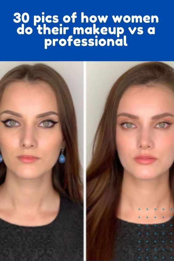30 Pics Of How Women Do Their Makeup Vs A Professional In 2020 Makeup Putting On Makeup Makeup Forever