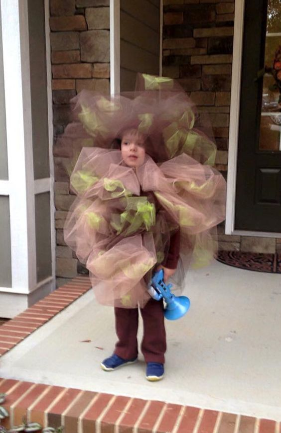 the kid was a fart for Halloween