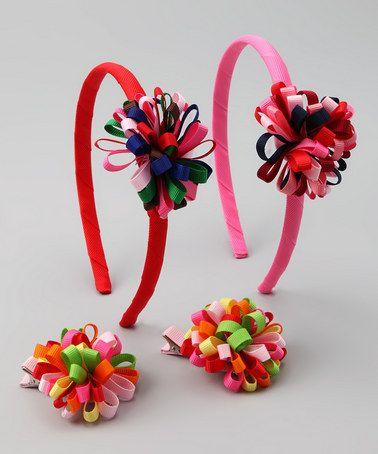 Take a look at this Pinwheel Headband & Clip Set by Bows and Barrettes on #zulily today!