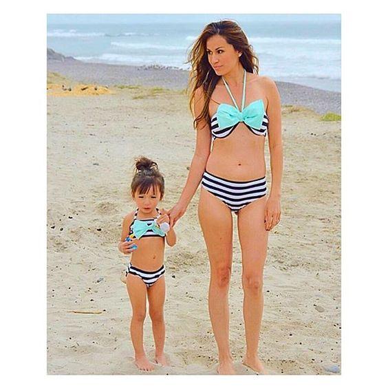 mommy and me matching bikini