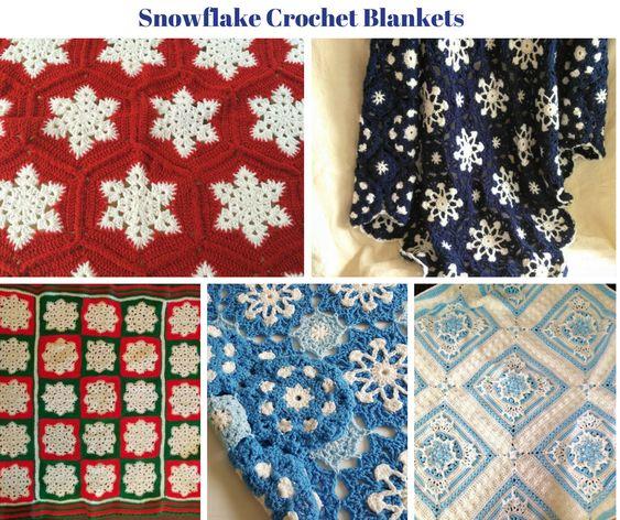 Snowflake Crochet Blankets