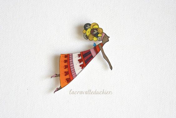 Fairy brooch or pendant fairy jewelry by lacravatteduchien on Etsy, €16.00