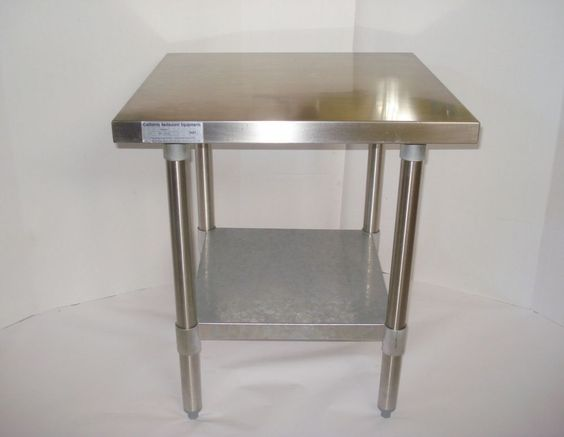 "24x24"" Stainless Steel Commercial Kitchen CALIF RESTAURANT EQUIP Food Prep Table #CALIFORNIARESTAURANTEQUIPMENT"