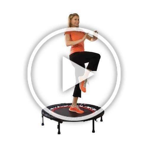 2020 Christmas Trampoline Urban Rebounder Trampoline with Workout DVD Stabilizing Bar in