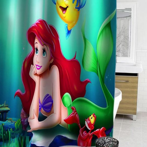 Curtains Ideas ariel shower curtain : The little mermaid, Little mermaids and Ariel on Pinterest