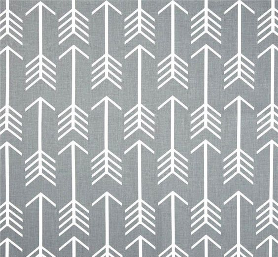 grey arrow fabric by the yard cotton home dcor fabric drapery or upholstery yardage