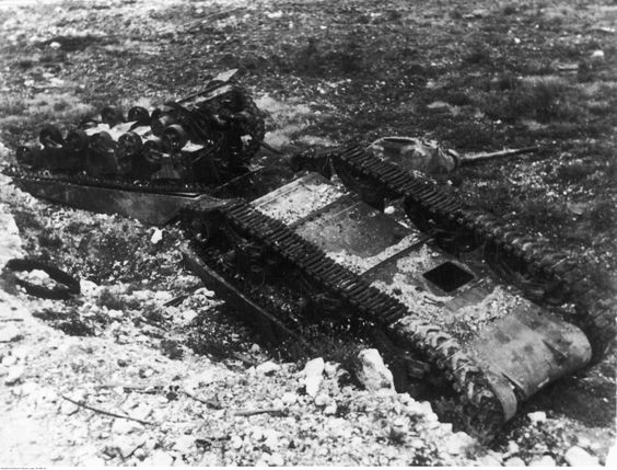 Flipped Over Shermans - Monte Cassino Italy 1944