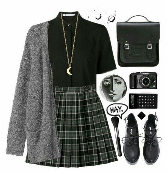 Dark academia aesthetic fashion