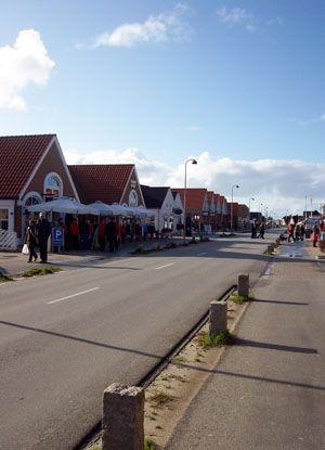 Blaavands Einkaufsstrasse - Dänemark