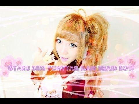 Gyaru Side Ponytail Hair Braid Bow Tutorial #4