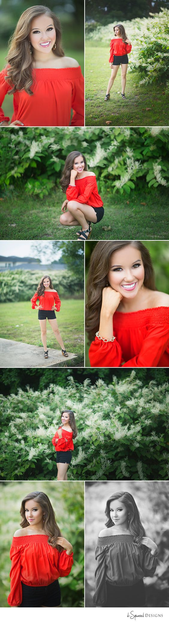 d-Squared Designs St. Louis, MO Senior Photography. Senior girl photography. St. Louis Senior photographer. Missouri senior photographer. Senior poses. Beautiful senior girl. Senior session. Senior girl inspiration. Miss Teen Missouri. Red and black. Greenery.