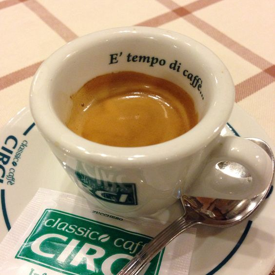 A great espresso from Hosteria Cannavota in Rome.
