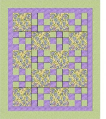 Quilt Patterns With 3 Fabrics : Quilt, The o jays and Purple on Pinterest