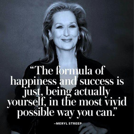 Meryl Streep... be vivid!