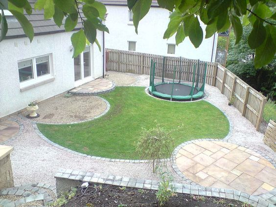 Circular garden design near Glasgow Gardens Garden ideas and Yards