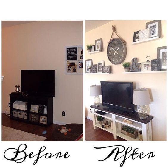 Last One These Picture Ledges From Ikeausa Made For A Great Statement Wall And My Client Got To Print Some W Living Room Tv Wall Tv Wall Decor Big Wall Decor