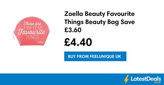 Zoella Beauty Favourite Things Beauty Bag Save £3.60, £4.40 at Feelunique UK
