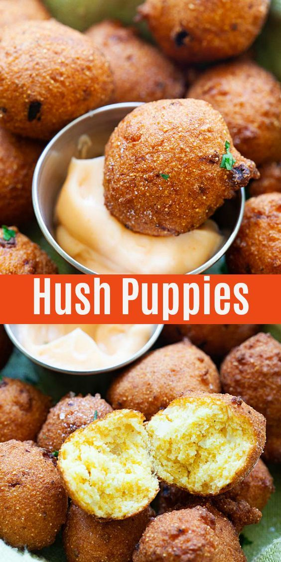 Hush Puppies Fried Croquettes Made With Cornmeal And Onion Homemade Hush Puppy Recipe That Goes We Hush Puppies Recipe Easy Hush Puppy Recipe Crispy Recipes