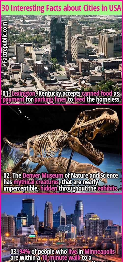 30 Interesting Facts About Cities In Usa Fact Republic Fun Facts Usa Facts Places To Visit