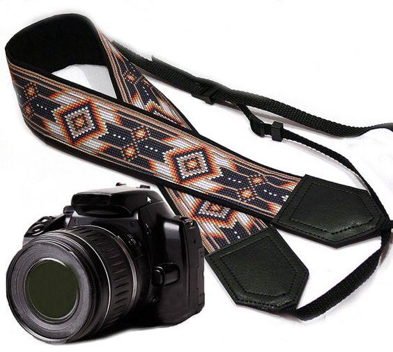 Native American inspired Camera strap.  Southwestern by InTePro