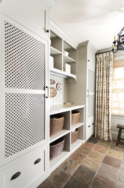 Vented Laundry Doors Folding Station Laundry Rooms