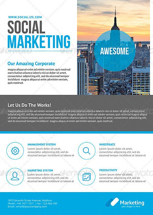 Corporate business flyer template for Sales slick template