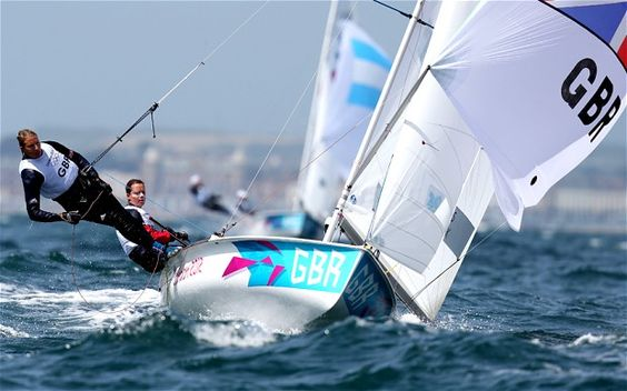 Clark and Mills on target for sailing Olympic gold