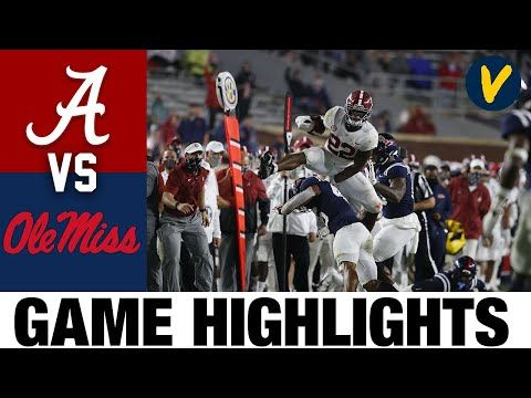 2 Alabama Vs Ole Miss Highlights Week 6 College Football Highlights 2020 College Football Youtube In 2020 Alabama Vs Football Highlight Football Youtube