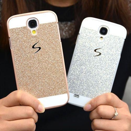 Glitzer Bling Schutzhülle Rückseite Hart Case Skin Hülle Etui für Samsung iPhone