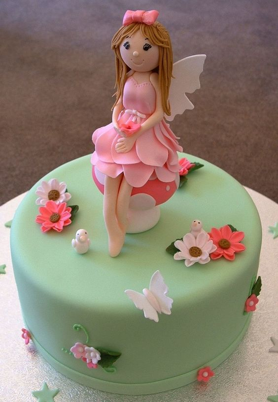 Fairy Cake Topper Garden Party V 1 Pinterest Cakes