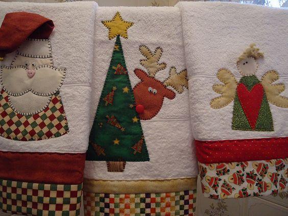 Toalhas lavabo flickr intercambio de fotos navidad for Aplicaciones decoradas