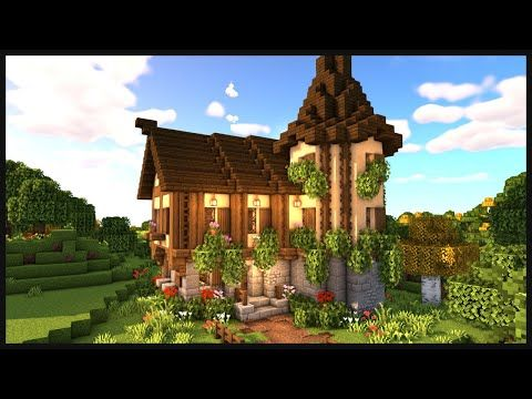 Minecraft How To Build A Medieval House Easy Medieval House Tutorial Youtube Amazing Minecraft Minecraft Cute Minecraft Houses