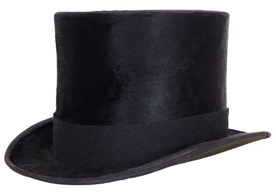 Steampunk 1850s Top Hat Holt Renfrew Predecessor Black Silk Size 7