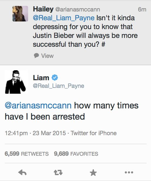 look at what this girl is still tweeting... Liam