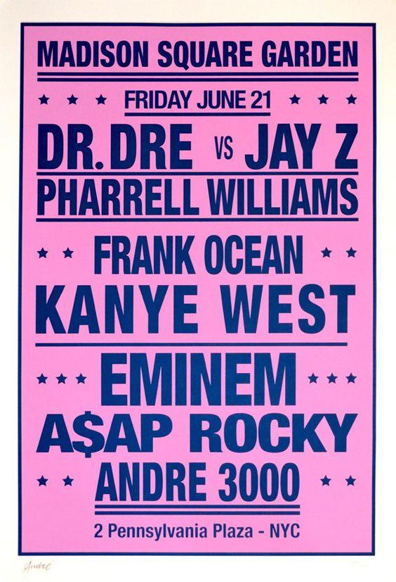 Andr� Dream Concert poster: Dr. Dre vs. Jay Z