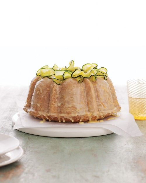 Zucchini Bundt Cake with Orange Glaze - Martha Stewart Recipes