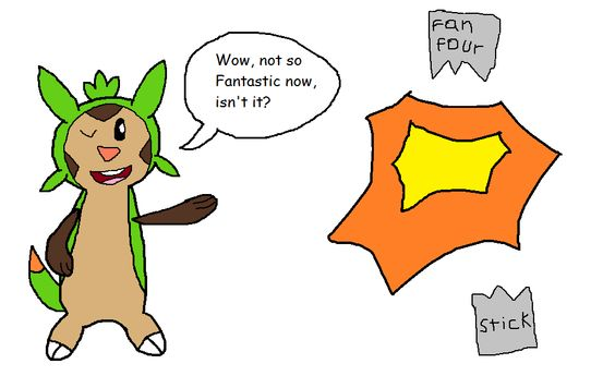How Chespin reacted to the Fant4stic's failure by Rebeccachu-Chan.deviantart.com on @DeviantArt