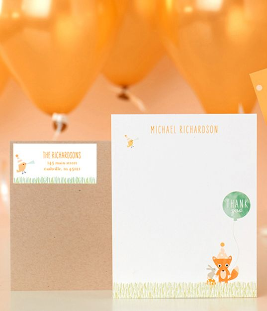 Every party should end in thank you cards. Shop matching stationery sets to complete the birthday party from start to finish.