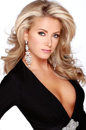 PAGEANT HAIR/ MAKE-UP The Woman with fancy diamonds vintage earrings